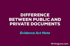 7 Differences between Public and Private Documents - WRITINGLAW