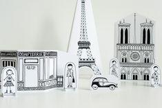 París de papel para viajar con niños sin salir de casa - Manualidades de papel y cartón - Manualidades para niños - Charhadas.com