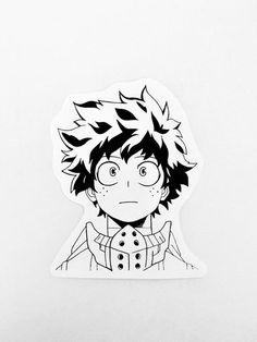 my hero academia deku stickers, anime stickers Pop Stickers, Anime Stickers, Printable Stickers, Tattoos Anime, Manga Mermaid, Simpsons Tattoo, Deku Anime, Black And White Stickers, Homemade Stickers