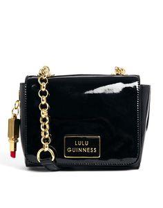 Lulu Guinness Black Patent Leather Verity Across Body Bag Patent Leather  Handbags a36512eccfb5f