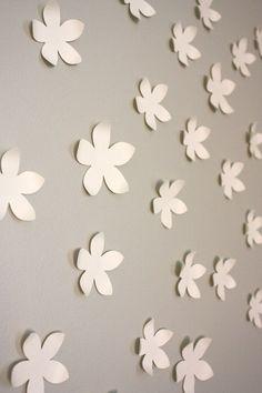 3D paper flower wall decor