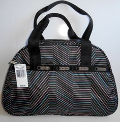 NEW LE SPORTSAC Sidney Overnighter Travel Bag 7857 Balance Beam Black Multi NWT  #LeSportSac #MessengerCrossBody