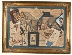 Gabriel Germain Joncherie A TROMPE L'OEIL COMPOSITION OF ENGRAVINGS, PLAYING CARDS, AN ALMANAC, BUTTERFLY SPECIMENS AND A CHATELAINE WATCH Estimate  6,000 — 9,000  GBP