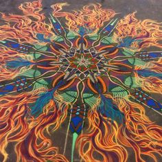 Joe Mangrum Fiery sand painting