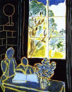 Henri Matisse - Fauvisme - The Silence that Lives in Houses, 1947 Henri Matisse, Matisse Kunst, Matisse Art, Art And Illustration, Illustrations, Landscape Illustration, Art Amour, Matisse Paintings, Kunst Online