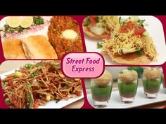Street Food Express - Quick And Easy Homemade Fast Food / Street Food Recipes | by Rajshri Food | Ruchi Bharani & Anuradha Toshniwal | Ragda Patties |  Pav Bhaji | Aloo Tikki Chaat |  Cheese Veg Frankie | Sev Puri | Chinese Bhel | Pani Puri |