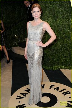 "Amy Adams. Vanity Fair Oscars Party. ""Oscar de la Renta dress."""