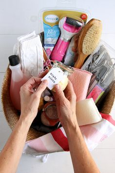 """Create a """"Pamper Yourself"""" gift basket"""