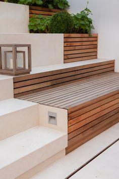 Back Garden Design, Backyard Garden Design, Garden Landscape Design, Terrace Garden, Backyard Patio, Backyard Landscaping, External Staircase, Outdoor Stairs, Patio Stairs