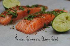 Mexican Salmon and Quinoa Salad