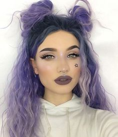 Lavender Dawn is a 2017 new design and update synthetic lavender wigs in UniWigs.com.