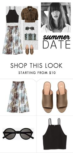 """""""Summer date🙆🏻"""" by dorey on Polyvore featuring H&M, Yves Saint Laurent, Mary Frances Accessories and Veronica Beard"""