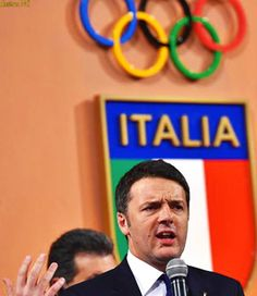 The prime minister of Italy, MAtteo Renzi, speaking of Italy as candidate for Olympic Games.