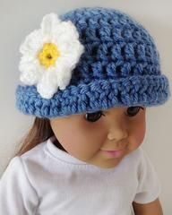 """Click the banners below for more great hats, available via mail or download!    DAISY HAT (for 18"""" Doll) Easy Skill  Size:Fits most 18"""" dolls.  Materials:"""