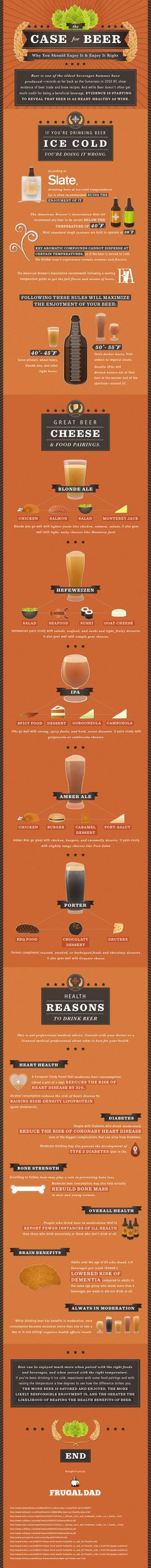 The health benefits of beer.