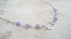 Necklace  Amethyst Necklace Amethyst and by FlairForFanciful, $40.00
