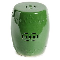 Limited Production Design U0026 Stock: Classic Green Ceramic Garden Stool /  Side Table * 17