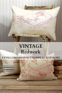 Vintage Redwork