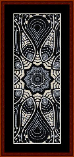 Click to view FREE Fractal counted cross stitch pattern!