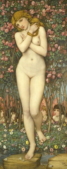 Flora (The Birth of Venus) - John Roddam Spencer-Stanhope (Stanhope was associated with Edward Burne-Jones and George Frederic Watts and often regarded as a second-wave pre-Raphaelite)