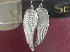 Vintage Steampunk Angel Wing Earrings by VintageMadLady on Etsy