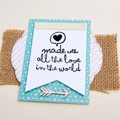 Sello - Made with all the love in the world - Sellos Mr Wonderful - Sellos - Scrapbook