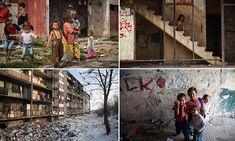 Roma children in Kosice slum Lunik IX