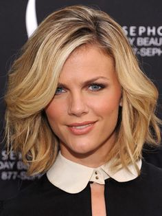 Brooklyn Decker's perfectly tousled bob. Learn how to get your most flattering #hair #color right at home at http://www.haircolorforwomen.com/breakthrough-hair-color-system-your-salon-doesnt-want-you-to-know-about-p/