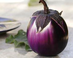 Heirloom Organic 200 Seeds Purple Round Eggplant Seed by seedsshop, $1.79