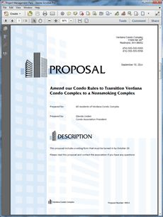 Amazing Non Smoking Property Management Sample Proposal   Create Your Own Custom  Proposal Using The Full Version Of This Completed Sample As A Guide With  Any ...