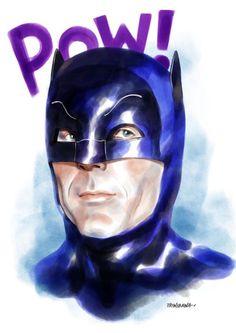 "herochan: ""Batman / Adam West Art by Santosa Triwibawa James Gordon, Crime, Adam West, West Art, Deathstroke, Dc Characters, Batman Robin, Gotham, Dc Comics"