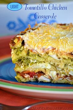 Are you trying to watch what you eat (calories)? I speak from experience that it's hard to eat my favorite Mexican food and stay within my calorie count. That's why I created this Light Tomatillo Chicken Casserole.