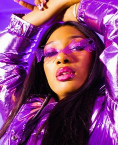 """""""Megan Thee Stallion announces her debut album will be released in The rapper revealed the album will introduce fans to a new alter ego, Suga who is best friends with Tina Snow. Collage Mural, Bedroom Wall Collage, Photo Wall Collage, Picture Wall, Dark Purple Aesthetic, Lavender Aesthetic, Black Girl Aesthetic, Blue Aesthetic Tumblr, Badass Aesthetic"""