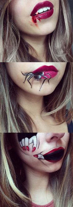 'Lip Artist' Laura Jenkinson hooked up with Christian Louboutin to create these moody lip art looks to inspire our Halloween scene. It's instant inspiration for Fright Night – and should you want more try the many Halloween makeup tutorials below. No tricks – just treats (promise).