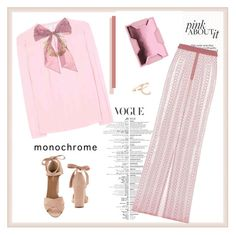 """Color Me Pretty: Head-to-Toe Pink♥♥♥"" by marthalux ❤ liked on Polyvore featuring Aquazzura, Diane Von Furstenberg, Oscar de la Renta, Burberry, Lee Savage, Repossi, monochrome, Color, Pink and Spring2017"