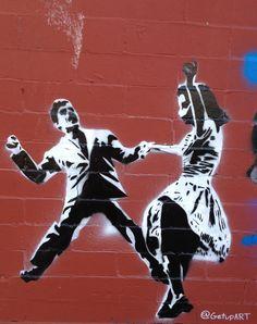 Philly stencil art