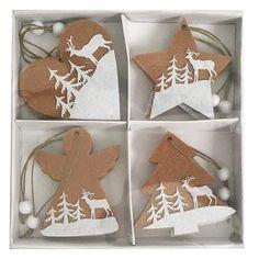 Dekorácia Ozdoba Woodeco 81608, 4 druhy, bal. 8 ks Gingerbread Cookies, Bali, Gingerbread Cupcakes
