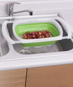 Take a look at this Green Over-the-Sink 6 Quart Colander by Progressive: Storage Solutions on #zulily today!