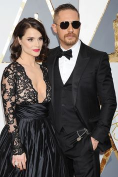 Tom Hardy and Charlotte Riley at the Oscars