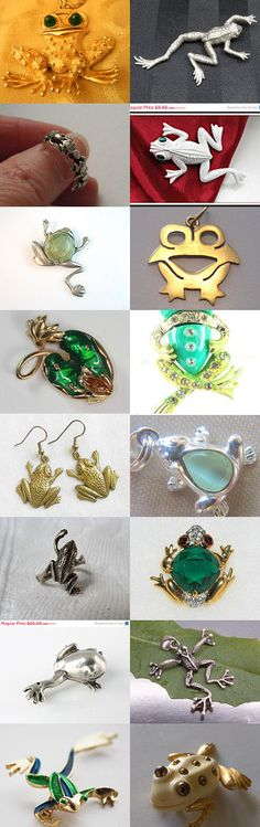 Ribbet Said the Frog - #vintage #frog #brooch