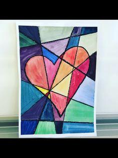 Ystävänpäivä - kylmät värit kohtaavat lämpimät Primary School Art, Art School, Primary Education, Valentines Day, Crafts For Kids, Quilts, Blanket, Bedroom, Paintings