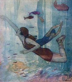 Illustration by Rafael de Penagos, 1917.