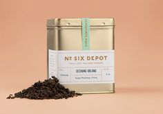 """Beautiful identity by Perky Bros, a design studio based in Nashville, Tennessee.  """"No. Six Depot is a family owned, small-batch coffee roaster and café nested in the beautiful Berkshires. Located in a historic train station on 6 Depot St, they serve teas, salts and coffee from small farms and roast on location. Their identity juxtaposes a mix of unique rural and modern elements — drawing inspiration from their own backyard railroad and unique approach to keeping it simple and making it ..."""