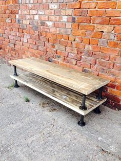 Industrial Style Two Tiered Black Scaffold TV Unit or Coffee Table - www.reclaimedbespoke.co.uk