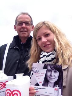Maria og Henning samlede ind i Næstved. #Landsindsamling #Visflaget