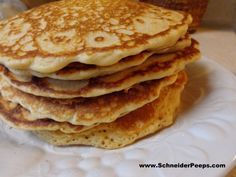 SchneiderPeeps - Pancake and Biscuit recipes for the freezer.  Making a hot breakfast (or snack) doesn't have to be time consuming.  I keep homemade dry pancake and biscuit mix in the freezer so I can just dump it into a bowl, add wet ingredients and cook.
