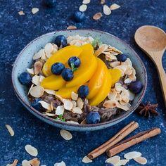 Home - Din secretele bucătăriei chinezești Acai Bowl, Cheesecake, Healthy Recipes, Ethnic Recipes, Food, Porridge Oats, Almonds, Breakfast Ideas, Honey