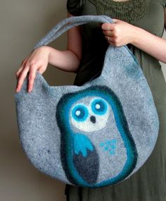 Felting: Felted Owl Bag