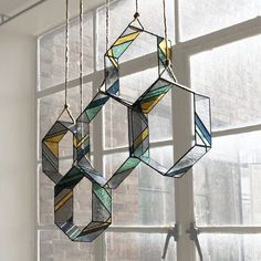 Three-dimensional HEX Elements can be hung individually from above - in front of a window, over a table, grouped in a corner, or any other place