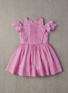 100% cotton dress with ruffles and layer sleeves in Orchid Bouquet. * PRE-ORDER. The estimated shipping date for this item is: 04/7/2016. This item is available